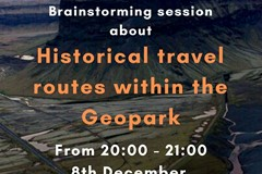 "Brainstorming session about the project ""Research and preserve old travel paths within the Geopark, along with the traditions and superstitions connected to them"""