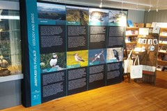Katla Geopark has unveiled its new easily movable educational exhibition