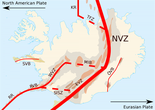 Outline Of Iceland Deformation Zonessvg